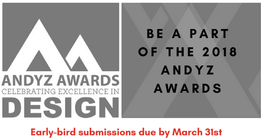 Now Accepting Submissions for the 2018 ANDYZ Awards